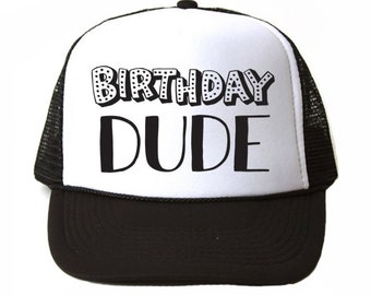 Boy Trucker Hat - Kids Trucker Hat - Birthday Dude Hat - Kids Hat - I'm Two - Baby Trucker Hat - I'm Two Lets Party Hat - Kids Birthday Gift