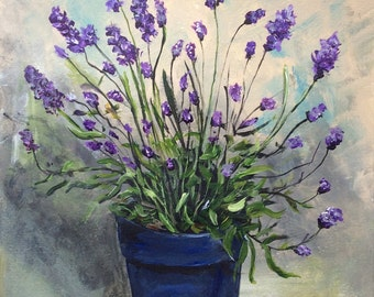 Lavender a printed from my original acrylic painting.