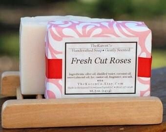 Fresh Cut Roses, Handcrafted Soap, Vegan Soap, Natural Soap, Rose Soap
