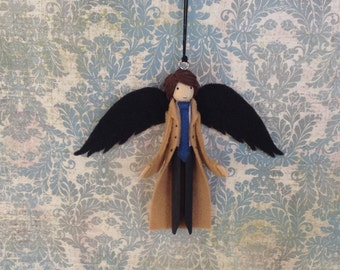 Castiel Clothespin Doll Ornament