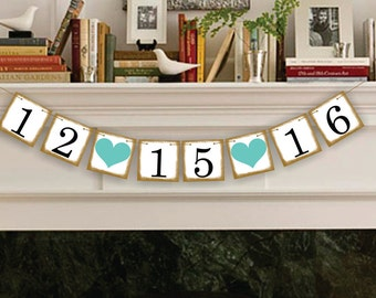 SAVE THE DATE  Banner -  Sign -  Garland - Party Photo Prop