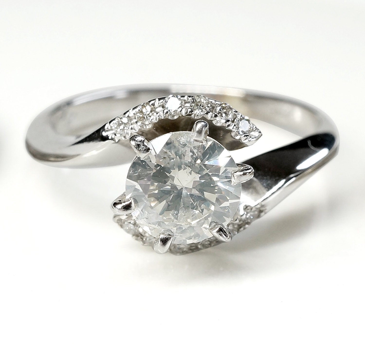 On Sale 1 Carat Engagement Diamond Ring Solitaire Ring