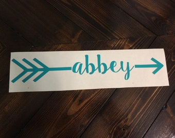 Name Arrow Decal | Computer Decal | Car Decal | Mac Book Pro Decal