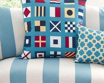 Maritime, Nautical Cushion Covers. Pillow Covers.