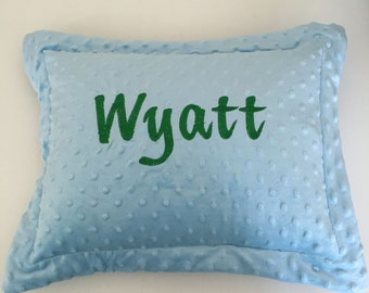 Minky Baby Pillow Monogrammed Personalized