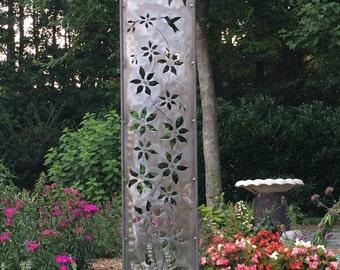"""50"""" """"Climbing Clematis""""  Garden Panel"""