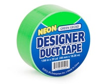Neon Green Duck Tape Brand Duct Tape Roll for crafts and Party Supplies