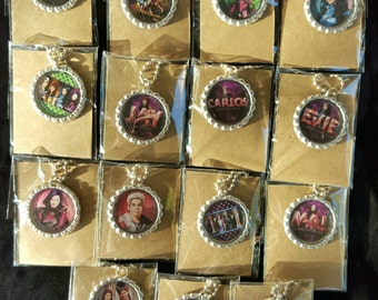 Descendants Bottle Cap Necklaces Birthday party  Favors Set of 8/16/24/32