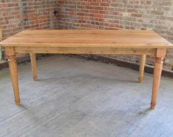 Solid Oak Dining Table - Ready to Ship