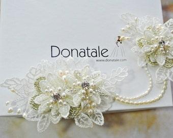 Wedding hair piece- Bridal halo- Wedding  Headpiece- Wedding Hair clip- Lace Headpiece -Bridal  Hair accessories - MONIQUE