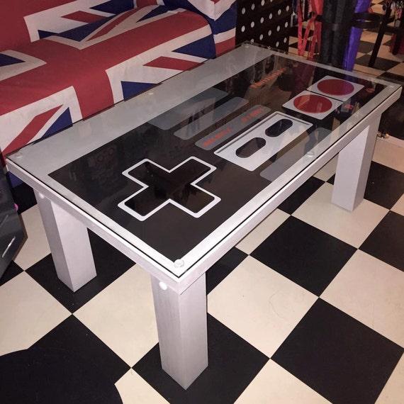 NINTENDO control pad solid wood coffee table NES gamer