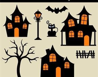 Spooky tree clipart | Etsy