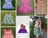 Made to order *deposit only* - Hand knitted or crochet dress baby toddler child