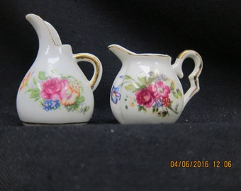 Small Floral Made in Japan Pitchers (2)