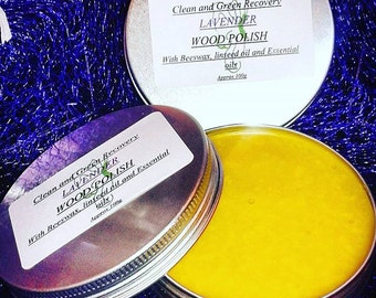 Natural Beeswax Wood Polish with Lavender and Cedarwood Essential oils