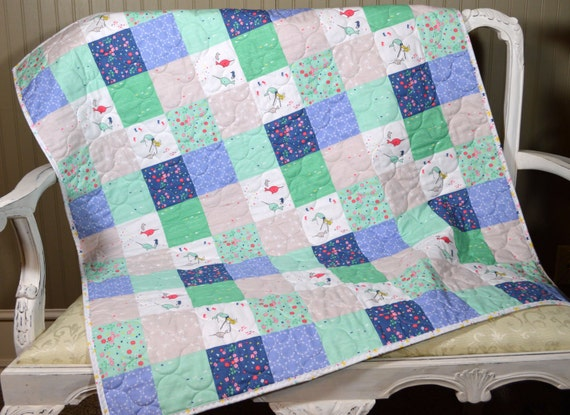 Under The Sea Baby Quilt Patchwork Quilt Handmade Baby Girl