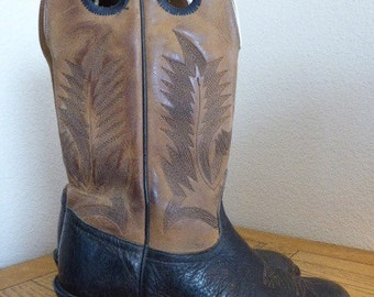 Vintage Mens Cowboy Boots MADE In USA - UK Size 8