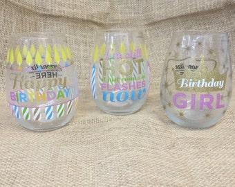 Personalize Happy Birthday Glasses
