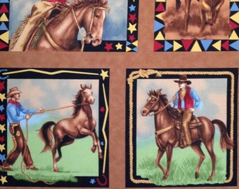 """King of the Ranch cotton panel -- approximately 23"""" x 44"""""""