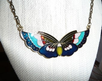 Butterfly statement necklace