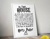 Harry Potter • Hogwarts • House Rules • 8x10 Print