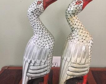 Pair of Hand Painted Wood Ducks
