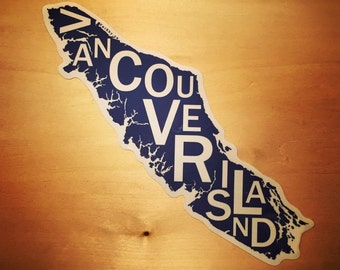 Far Sky Typographic Vancouver Island Vinyl Sticker