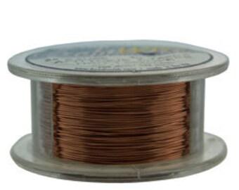 Craft Wire Tarnish Resistant Antique Copper Round Wire 28ga 40yd (WR6728AC)