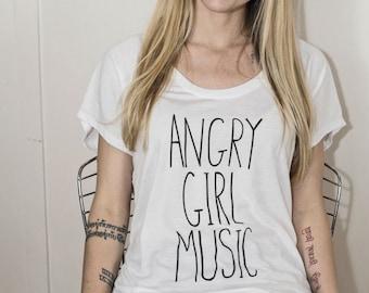 Angry Girl Music Tee