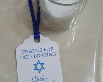 Personalized Favor Tags 2 1/2'', Bat Mitzvah  tags, Thank You tags, Favor tags, Gift tags,  Bar Mitzvah