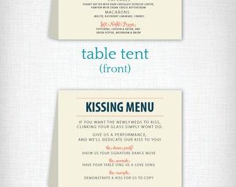 Wedding Dinner Menu & Kissing Menu: Ashley + Daniel