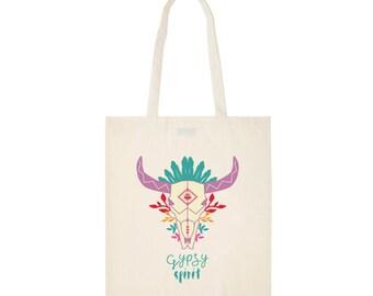 Printed tote bag  - Gypsy buffalo