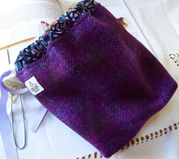 Knitting Project Bags Uk : Knitting bag project sock in harris