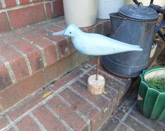 Shore Bird decoy painted blue