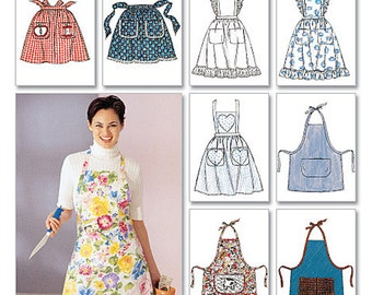 McCall's Sewing Pattern 2947 Misses' Aprons  One Size  Uncut
