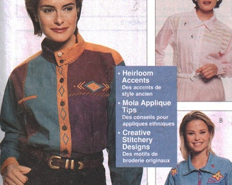 McCall's Sewing Pattern 8698 Misses' Shirts by Nancy Zieman  Size:  8-10/12-14/16-18/20-22  Uncut