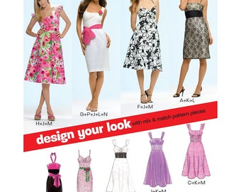 New Look Sewing Pattern 6699  Misses' Dresses  Size:  A  8-18  Uncut