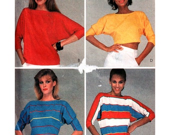 McCall's Sewing Pattern 8509 Misses' T-shirt for stretch knits only  Size:  10-12  Used