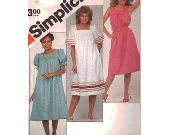 Simplicity Sewing Pattern 5921 Misses' Dress, Sash  Size:  N  10-12-14  Used