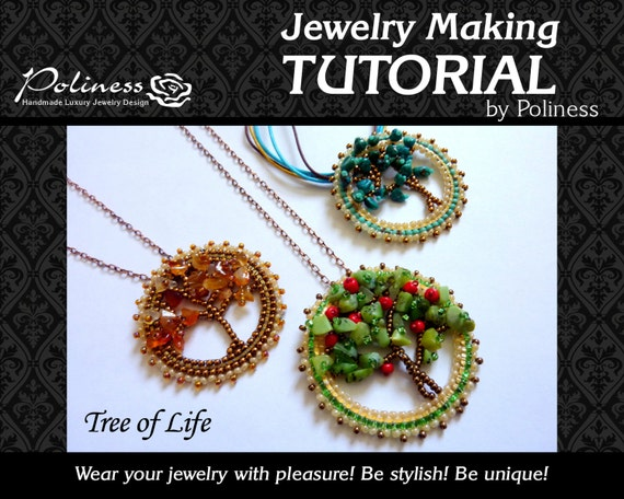 Step by step tutorial jewelry making beaded pendant beads step by step tutorial jewelry making beaded pendant beads making pattern beaded tree tree of life pdf handmade jewelry from mozeypictures Choice Image