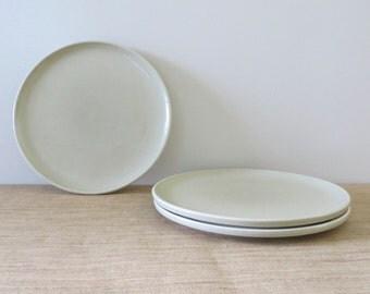 Vintage Pflatzgraff Stoneware Platters - Round - Beige Neutral Color (Set of 3)