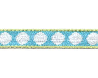 Design spot turquoise - white dots on turquoise
