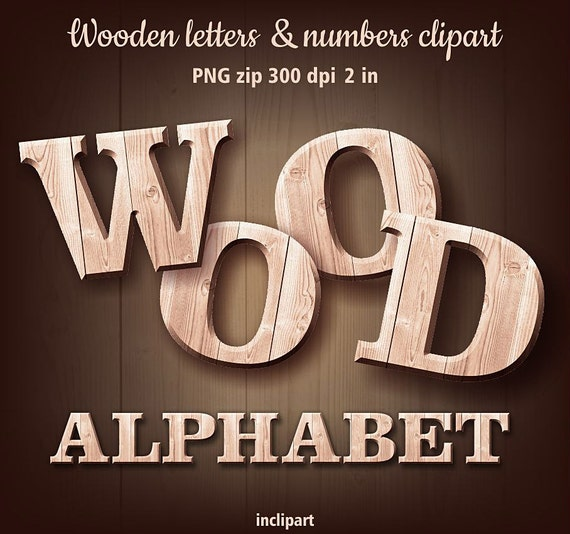 wooden alphabet letters wooden letters amp numbers clipart digital digital 16085