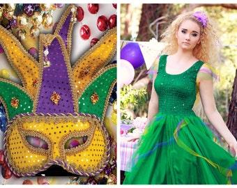 New Adult  CARNIVAL Mardi Gras  Dress ~  St.Patrick's Day Irish Costume  ~ Theatre ~ Fairy Rade