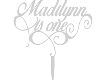 Someone is Turning One Cake Topper - Customize With Your Child's Name!!!!