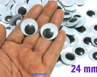 120pcs 24mm Plastic Eyes Googly Eyes for Craft.