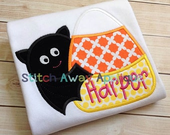 Bat Candy Corn Halloween Machine Applique Design