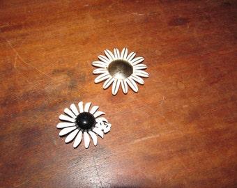 Two Vintage Metal Flower Broaches