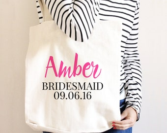 Bridesmaid Canvas Tote Bag - Bridesmaid Gift