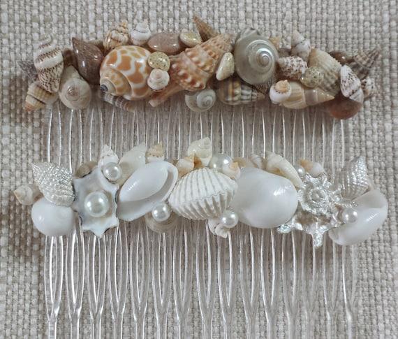 Items similar to beach wedding hair accessories beach for Seashells for hair